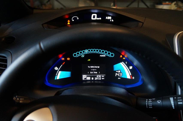 Electric Vehicle Range Indicator On Dashboard
