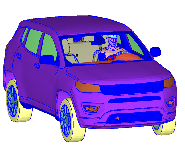 Jeep Thermal Model with Human Model for Comfort Analysis