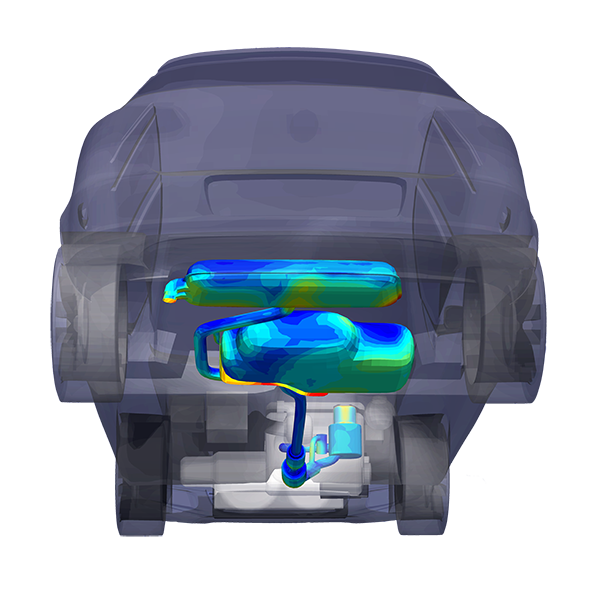 exhaust system thermal model TAITherm.png