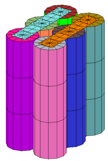 cad-geometry-of-six-cell-battery-pack-for-thermal-simulation