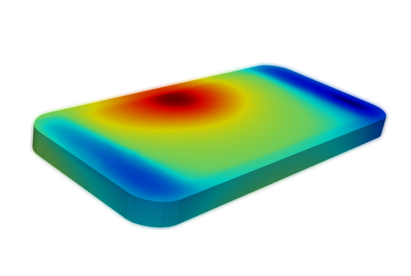 thermal-simulation-of-cell-phone-with-battery-hot-spot-on-left