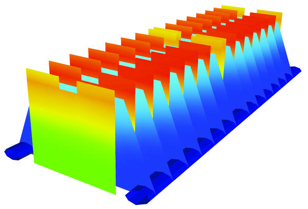 thermal simulation rendering of battery pack