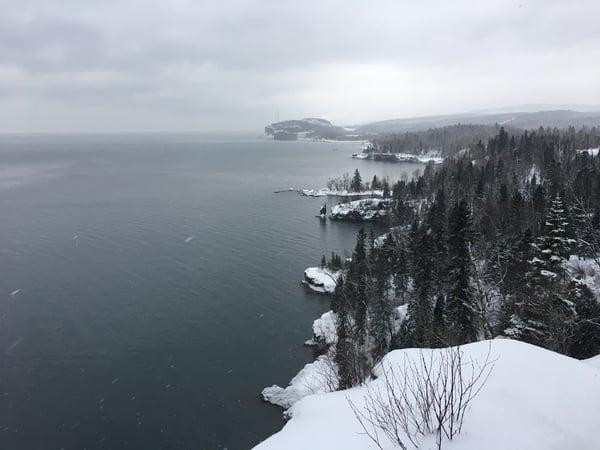 winter lake superior
